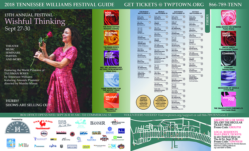 Tennessee Williams Festival Provincetown 2018